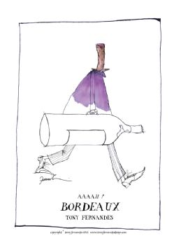 Aaaah! Bordeaux - signed print